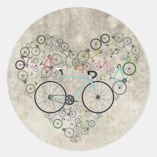J'aime mon vélo sticker rond