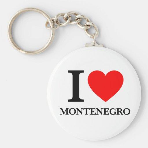 J'aime Monténégro Porte-clefs