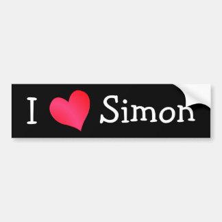 J'aime Simon Adhésifs Pour Voiture