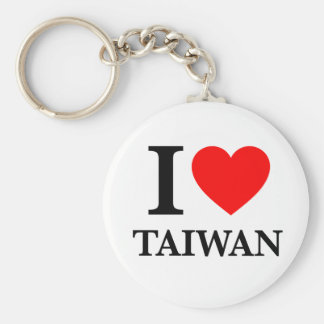 J'aime Taïwan Porte-clé Rond