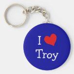J'aime Troie Porte-clés