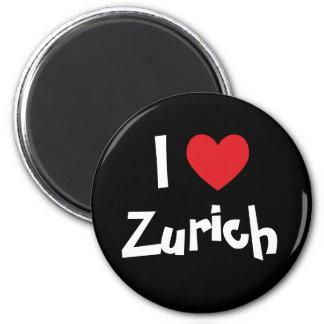 J'aime Zurich Magnet Rond 8 Cm