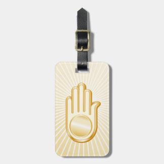 Jain Symbol Kofferanhänger