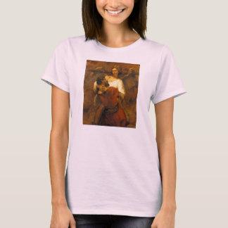Jakob-Wrestling mit dem Engel durch Rembrandt T-Shirt