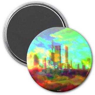 Jam_Jar_Marr ursprünglicher Kunst-Magnet Runder Magnet 7,6 Cm