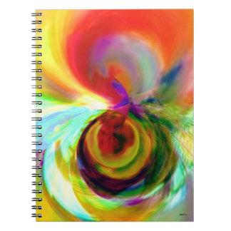 Jam_Jar_Marr ursprüngliches Kunst-Notizbuch Spiral Notizblock