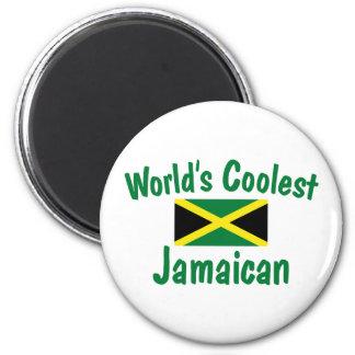 Jamaïcain le plus frais magnet rond 8 cm