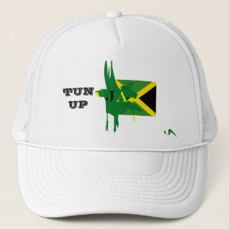 Jamaika-BOTTICH HERAUF weißen Maschen-Hut Truckerkappe