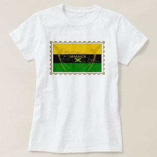 Jamaika-Farben, die Vogel-Briefmarken-T - Shirt