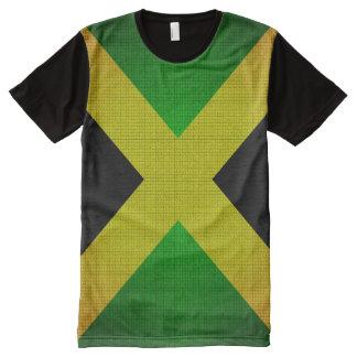 Jamaika-Flaggen-Schwarz-gelbes Grün-T - Shirt