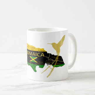 Jamaika-Gemeinde-Farbgoldsummenvogel-Tasse Kaffeetasse