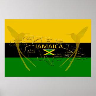 Jamaika-Gemeinde-Farbkolibri-Plakat irgendeine Poster