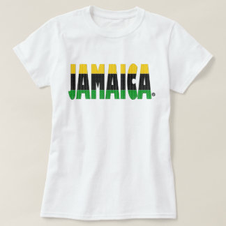 Jamaika-Goldschwarz-Grün Stripes Jamaika-T - Shirt