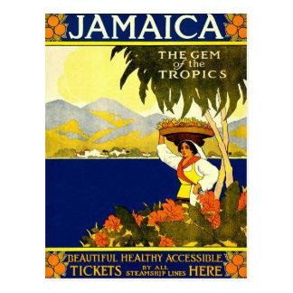 Jamaika, Vintage Reise-Plakat-Postkarte Postkarte