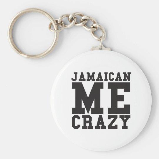 Jamaikanisch ich verrückt standard runder schlüsselanhänger