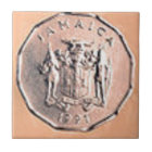 Jamaikanische 1 Cent-Münze Keramikfliese
