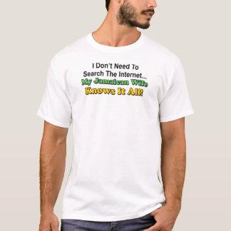 Jamaikanische Ehefrau kennt es aller T-Shirt