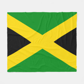 Jamaikanische Flagge Fleecedecke