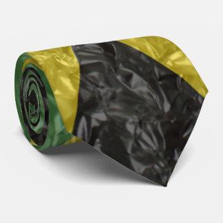 Jamaikanische Flagge - gekrümmt Bedruckte Krawatte