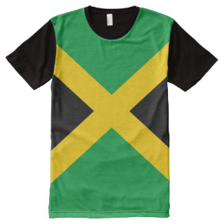Jamaikanische Flagge voll T-Shirt Mit Komplett Bedruckbarer Vorderseite