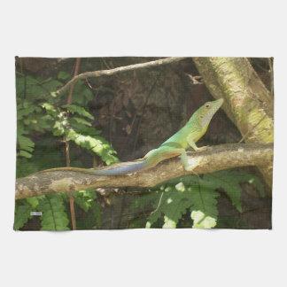 Jamaikanische grüne Eidechse Küchentuch