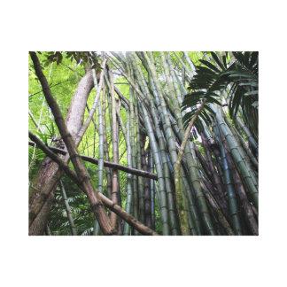 Jamaikanische riesiger Bambus-Leinwand Leinwanddruck