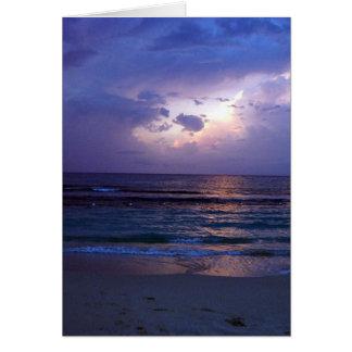 Jamaikanischer Sonnenuntergang Grußkarte