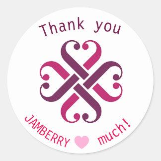 Jamberry danken Ihnen verschickender Umschlag Runder Aufkleber