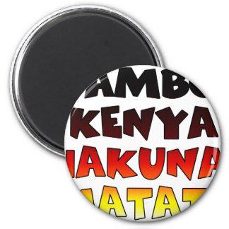 Jambo Kenia Hakuna Matata Runder Magnet 5,7 Cm