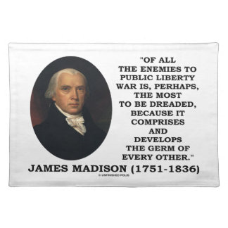 James Madison-Feinde zum allgemeinen Tischset