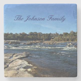 James River personalisierte Familie Steinuntersetzer
