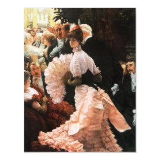 James Tissot die politische Dame Invitations 10,8 X 14 Cm Einladungskarte