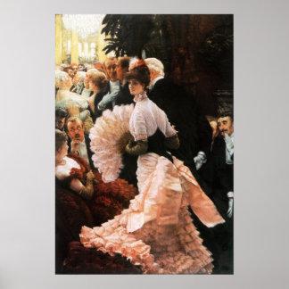 James Tissot die politische Dame Poster