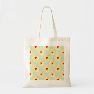 Jammy Dodger-Keks-Illustrations-Taschen-Tasche Budget Stoffbeutel