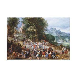 Jan Brueghel das Älteste - flämische Messe Leinwanddruck