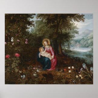 Jan. Brueghel das jüngere - die Erholung auf dem Poster