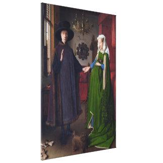 JAN VAN EYCK - Arnolfini Porträt 1434 Galerie Falt Leinwand