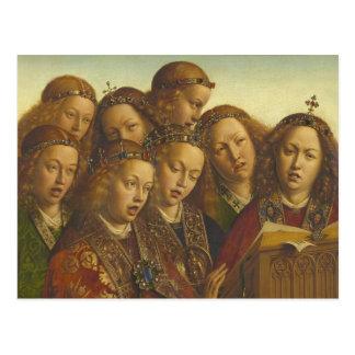 Jan van Eyck, der Engel Gent CC0974 singt Postkarte
