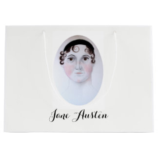 Jane Austen-Aquarellporträt-Buchtasche Große Geschenktüte