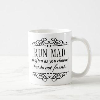 Jane Austen: Der wütende Lauf/fallen nicht Kaffeetasse
