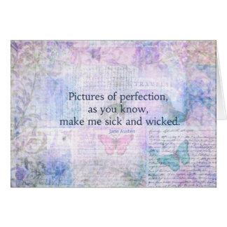 Jane Austen humorvoll, geistreiches Zitat Grußkarte