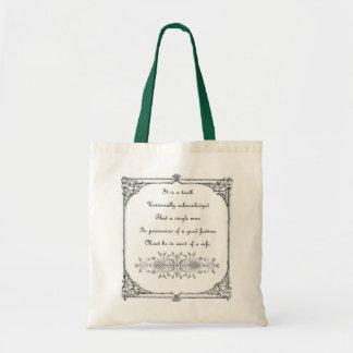 Jane Austen-Inspirations-Tasche Tragetasche