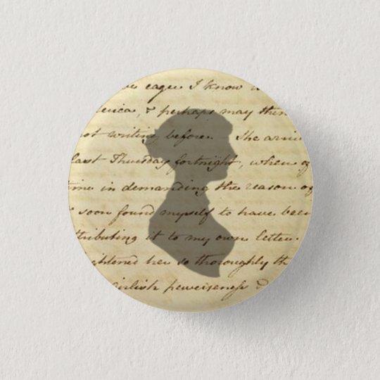 Jane Austen-Manuskriptknopf Runder Button 3,2 Cm