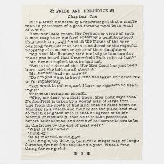 Jane Austen-Stolz und Vorurteil-Literatur-Zitat Fleecedecke