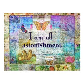Jane Austen-Stolz und Vorurteil-Zitat Postkarte