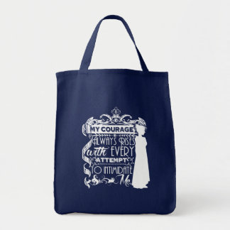 Jane Austen-Zitat mein Mut steigt immer P&P PPZ Einkaufstasche
