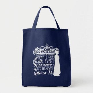 Jane Austen-Zitat mein Mut steigt immer P&P PPZ Tragetasche