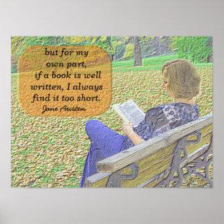 Jane Austen-Zitat - Plakatkunst Poster