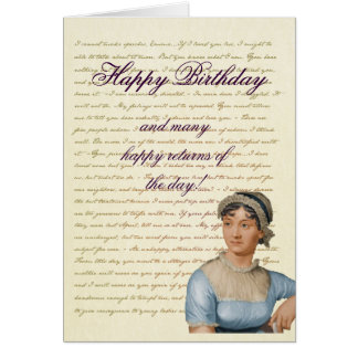 Jane Austen-Zitat schreiben Ihre eigene Karte