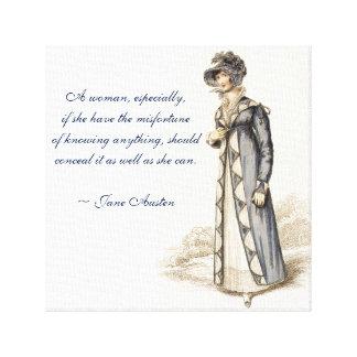 Jane Austen-Zitate Leinwanddruck